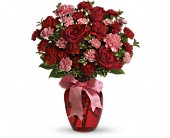 Red Roses With Pink Carnations